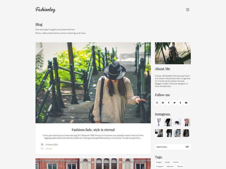 Kalium - Plantilla WordPress para blogs femeninos y tiendas online de mujeres
