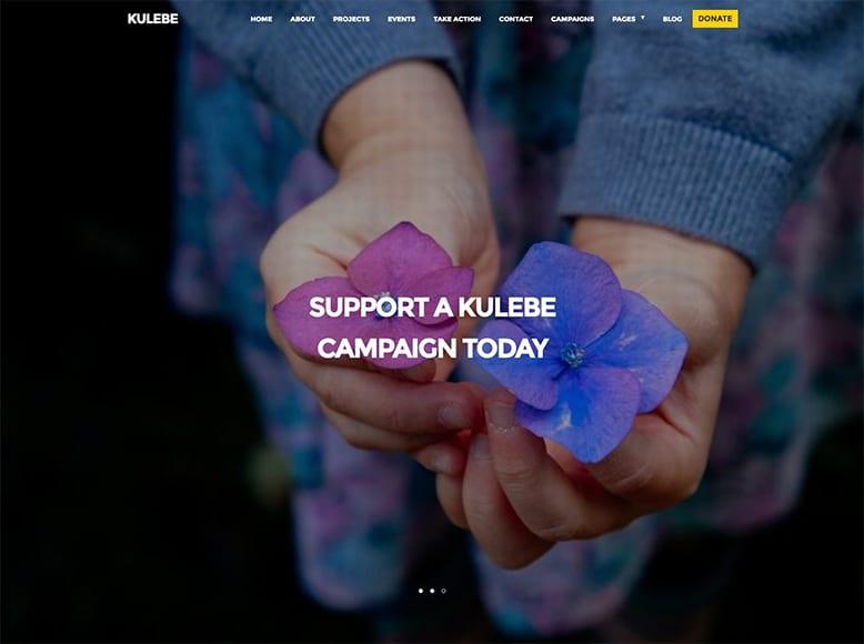Kulebe - Plantilla WordPress para asociaciones sin ánimo de lucro, ONGs, fundaciones benéficas