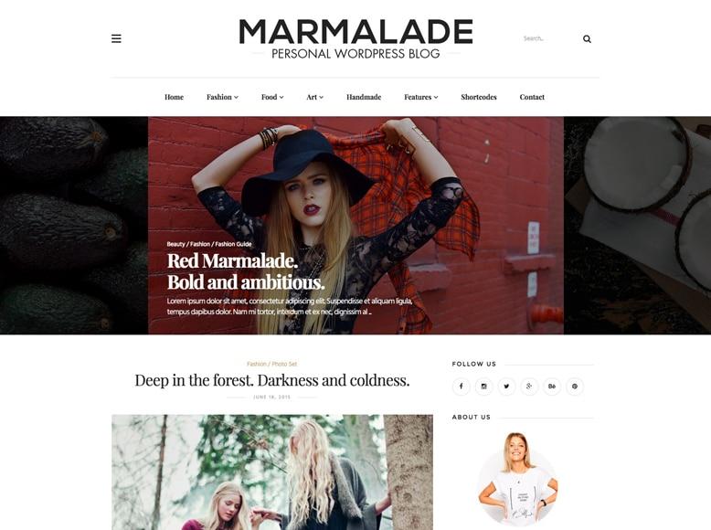 The Marmalade - Tema WordPress para blogs femeninos de moda y estilo de vida