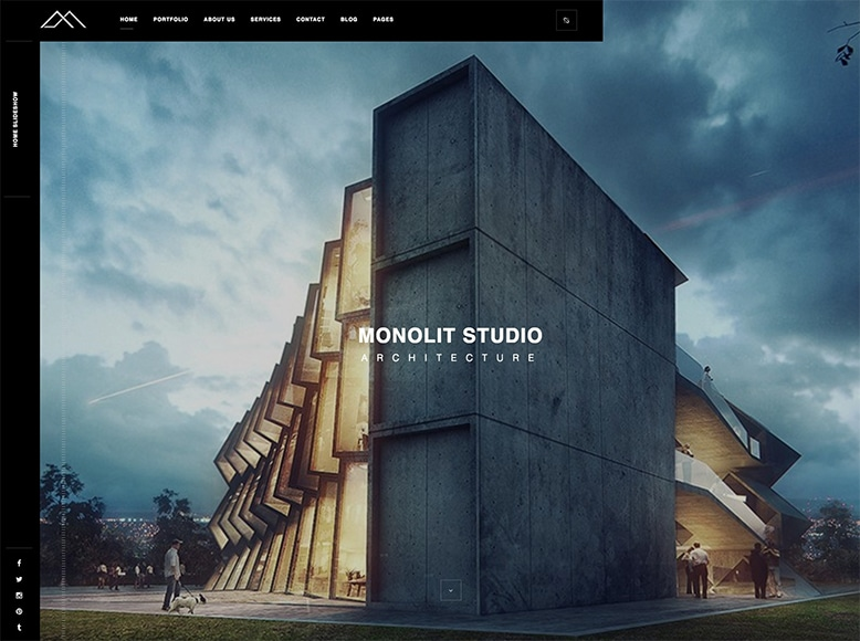 Monolit - Plantilla WordPress elegante para arquitectos