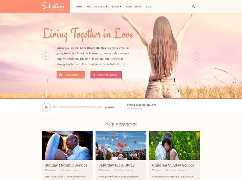 Salvation - Plantilla WordPress para iglesias, grupos religiosos, y organizaciones de caridad