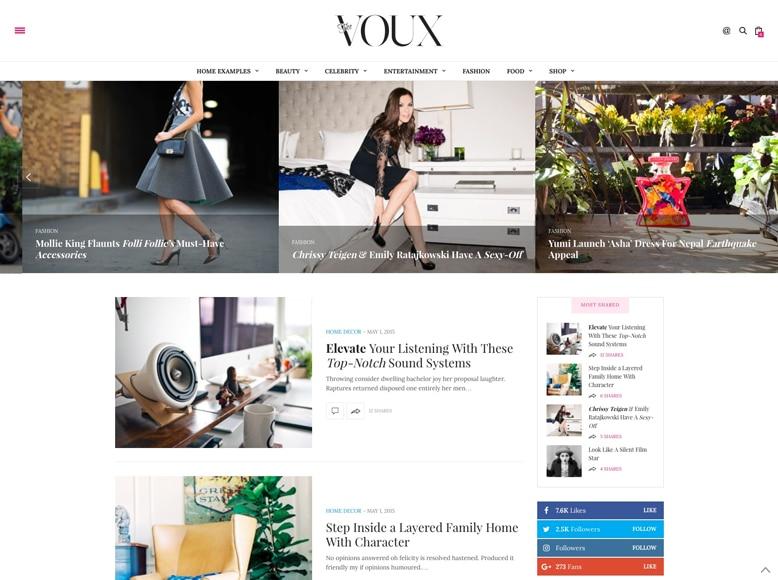 The Voux - Tema WordPress para blogs de moda y tendencias