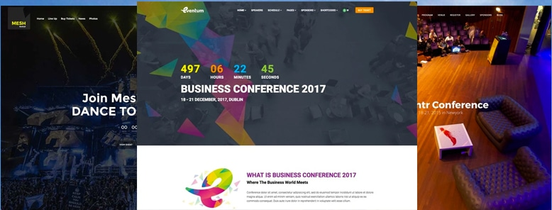 30+ Mejores Temas WordPress para Eventos y Conferencias 2017