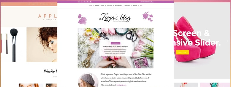 30+ Mejores Temas WordPress Femeninos para Blogs, Revistas y Tiendas Online 2017