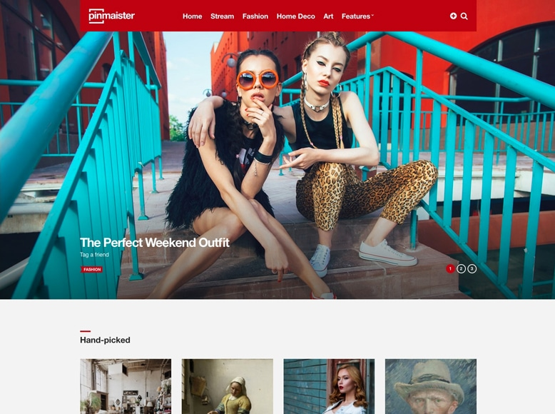 Pinmaister - Plantilla WordPress estilo Pinterest para blogs de moda y tendencias