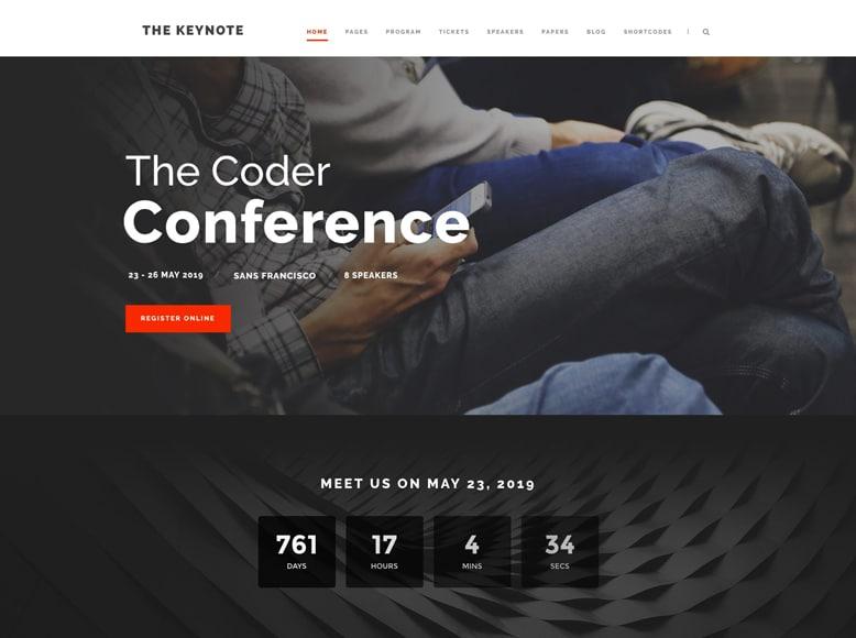 The Keynote - Plantilla WordPress para promoción de eventos y conferencias de empresas