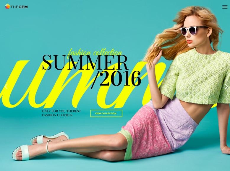 TheGem - Plantilla WordPress moderna para blogs, revistas y tiendas online de moda y tendencias