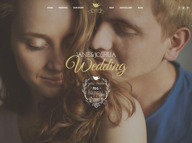 Celebration - Plantilla WordPress elegante para bodas y agencias de organización de bodas