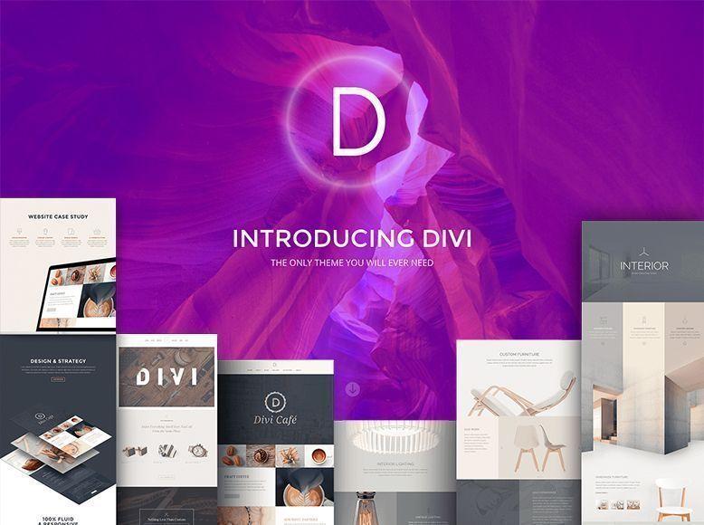 Divi - Plantilla WordPress bonita y elegante para bodas y celebraciones