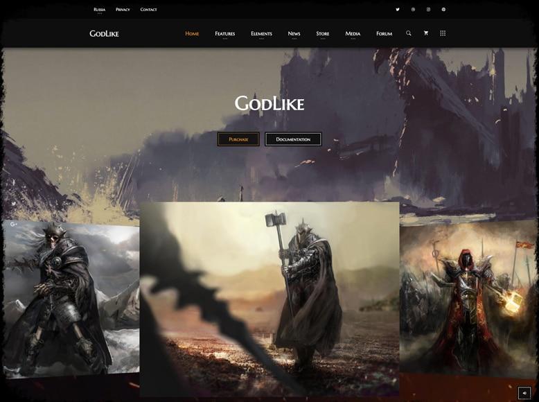 Godlike - Plantilla WordPress para promoción y venta de videojuegos