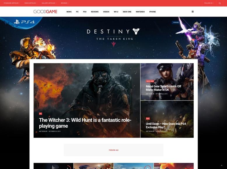 GoodLife - Plantilla WordPress para revistas online de juegos y videojuegos