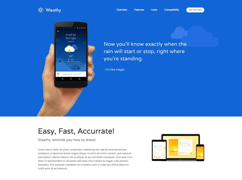 Kalium - Plantilla WordPress para landing pages novedosas e innovadoras