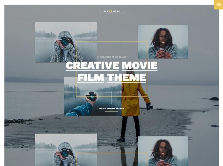 NRGVideo - Plantilla WordPress para campañas de promoción de películas de cine