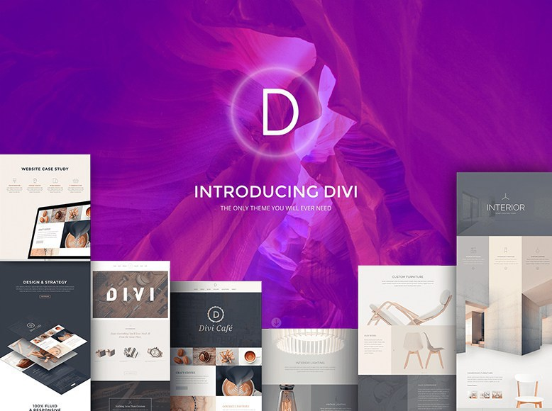 Divi - Plantilla WordPress moderna para el marketing de productos, servicios y apps