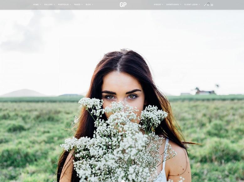 Grand Photography - Plantilla WordPress para portafolios de fotógrafos y artistas