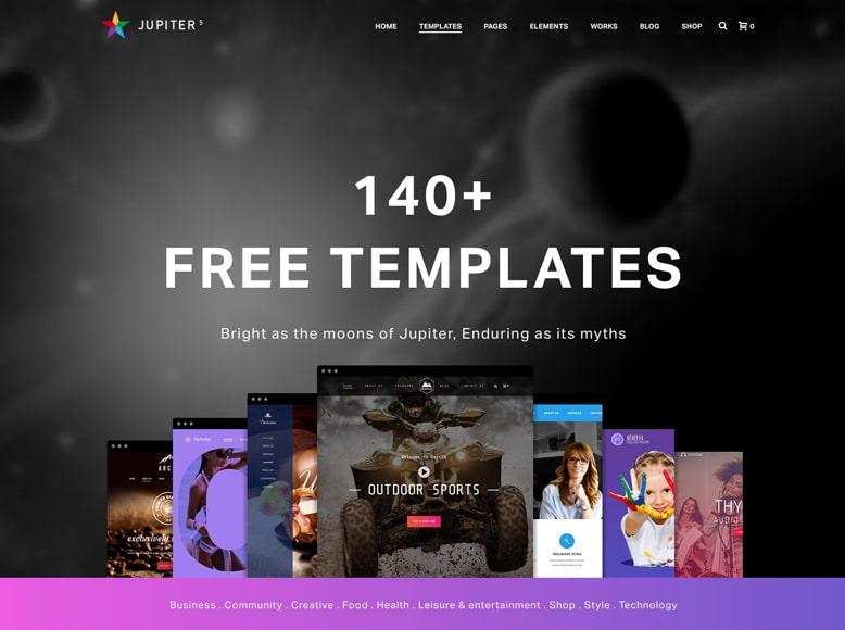 Jupiter - Plantilla WordPress a una sola página para pequeñas empresas