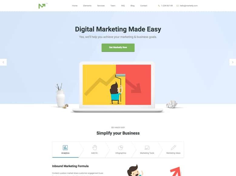 Marketing Pro - Tema WordPress para la promoción de productos y servicios