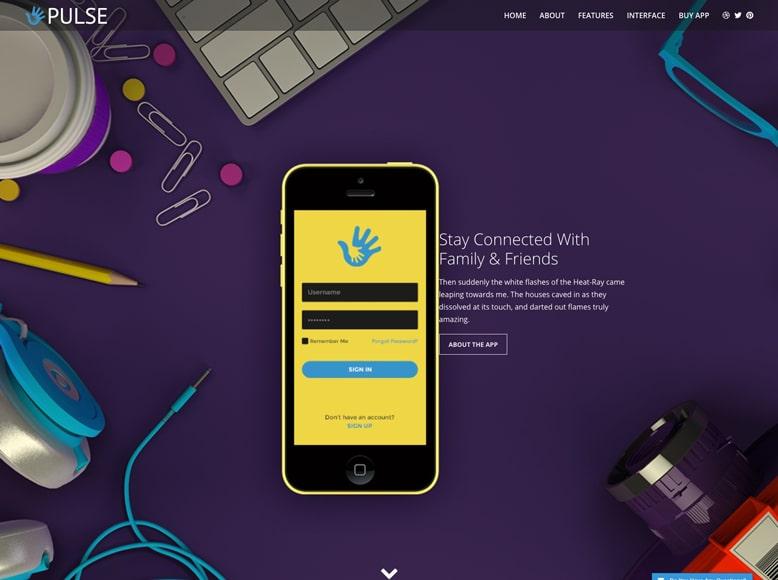 Pulse - Plantilla WordPress moderna para sitios web de promoción de empresas y servicios