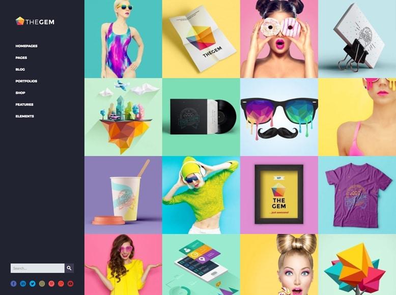 TheGem - Plantilla WordPress moderna para creativos, artistas y fotógrafos