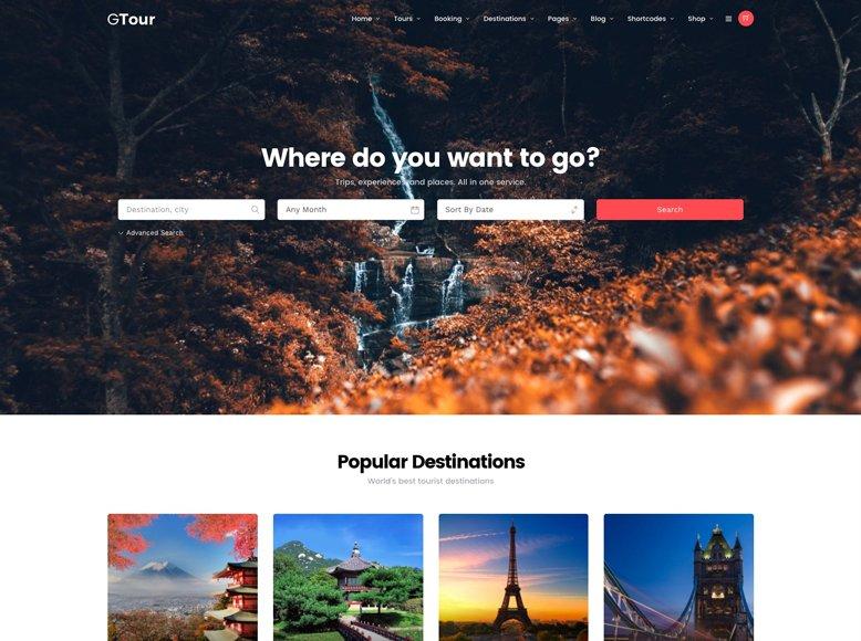 Grand Tour - Plantilla WordPress para tour operadores, agencias de viajes, tours por ciudades