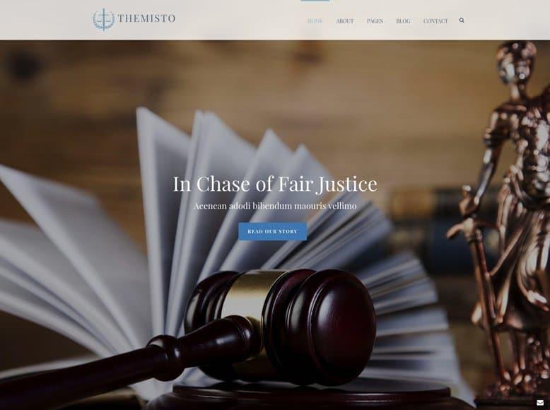Jupiter - Plantilla WordPress creativa para abogados, procuradores, notarios, jueces y asesorías