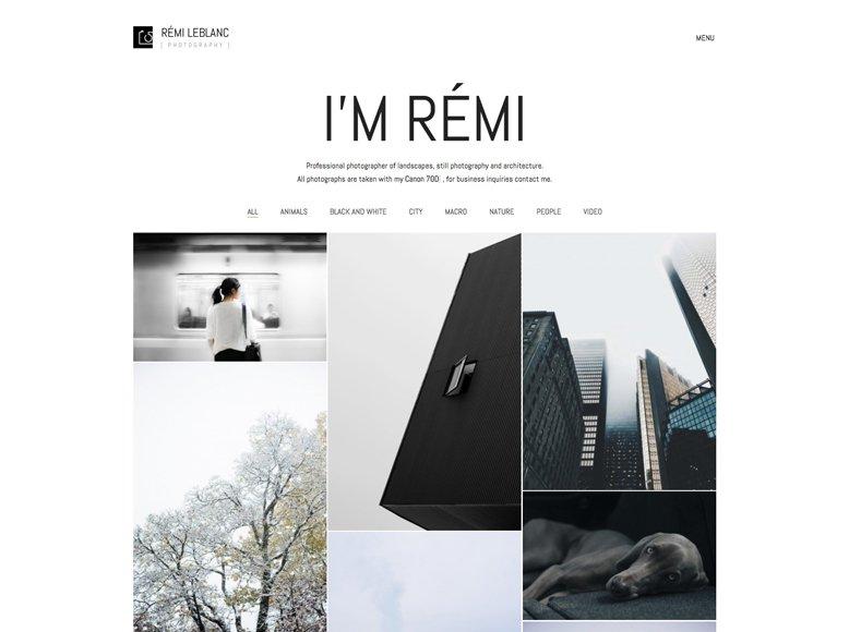 Kalium - Plantilla WordPress minimalista para fotografía