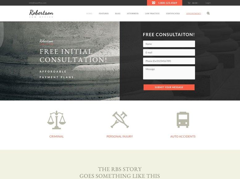 Law Office - Tema WordPress para abogados y asesorías jurídicas