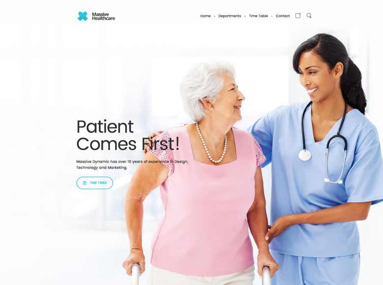 Massive Dynamic - Plantilla WordPress moderna para centros médicos, clínicas sanitarias y hospitales