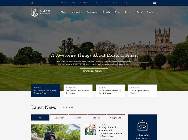 Smarty - Tema WordPress para universidades y colegios