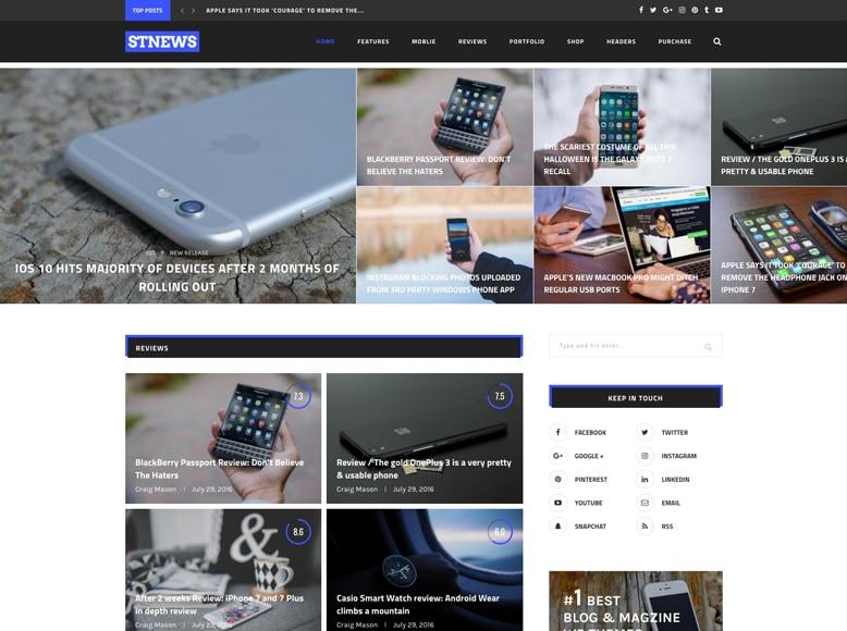 Soledad - Plantilla WordPress para revistas digitales de análisis y reviews