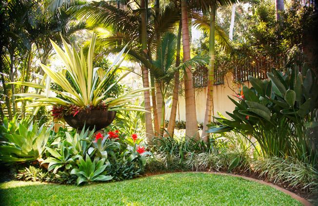 Luxury tropical garden | http://lomets.com on Tropical Backyards  id=49351