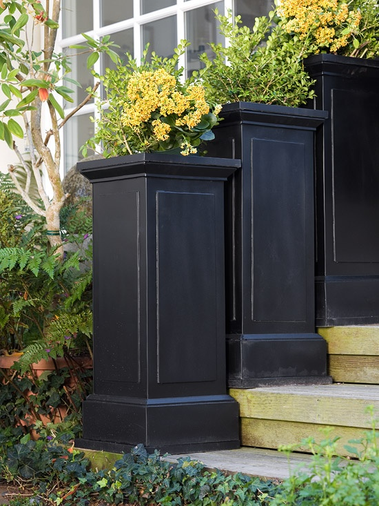 Large Ceramic Planters Outside
