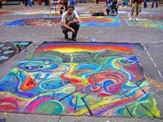 Image result for sidewalk chalk art
