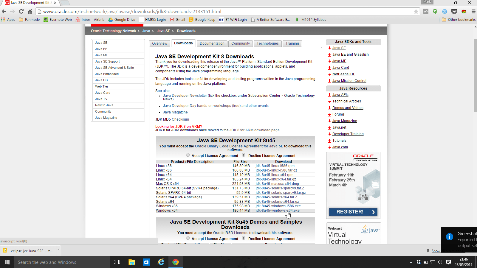8U45 JRE 64 JAVA BIT TÉLÉCHARGER