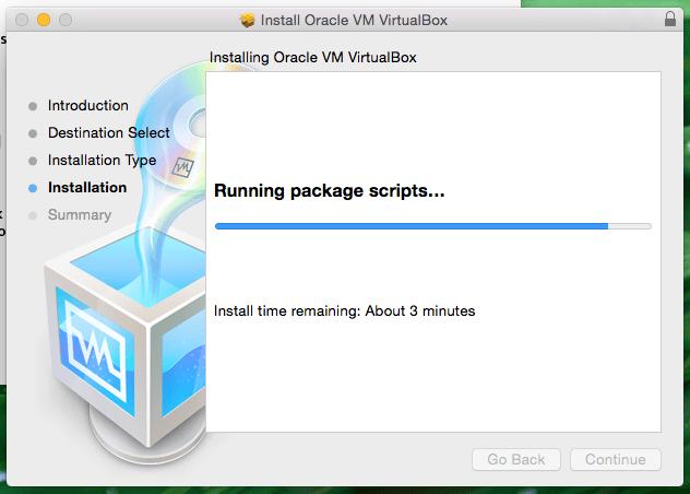 Installing Oracle VM VirtualBox Screenshot