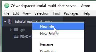 Atom Editor New File