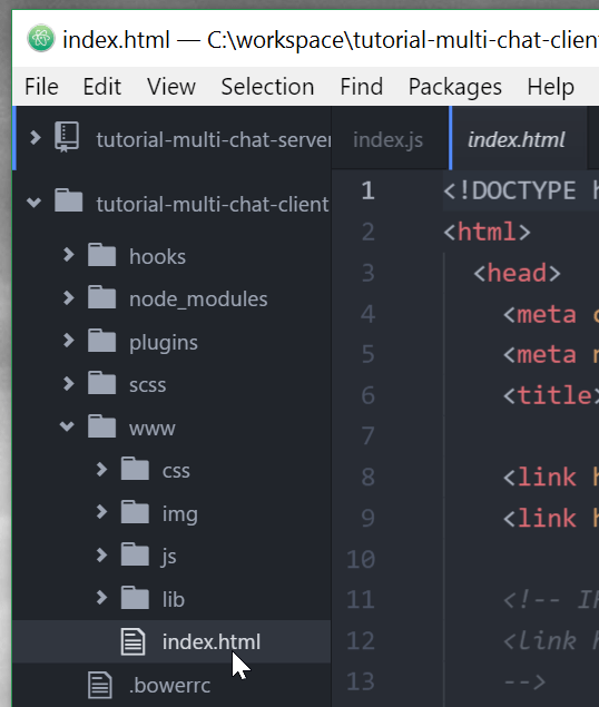 Atom index.html edit