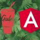 Gulp and AngularJS logos against a picture of green ferns