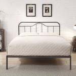 5ft King Size Retro Bed Frame Black Silver Metal Tube Low Foot End Traditional Industrial London Bed Centre