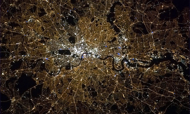 Stay within this area! Holders of 'London visas' would be permitted to live and work only in the capital. Image: NASA