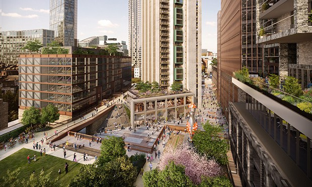 Final proposals: following consultation and amendments, the latest designs for the Bishopsgate Goodsyard development. Photograph: Hammerson plc