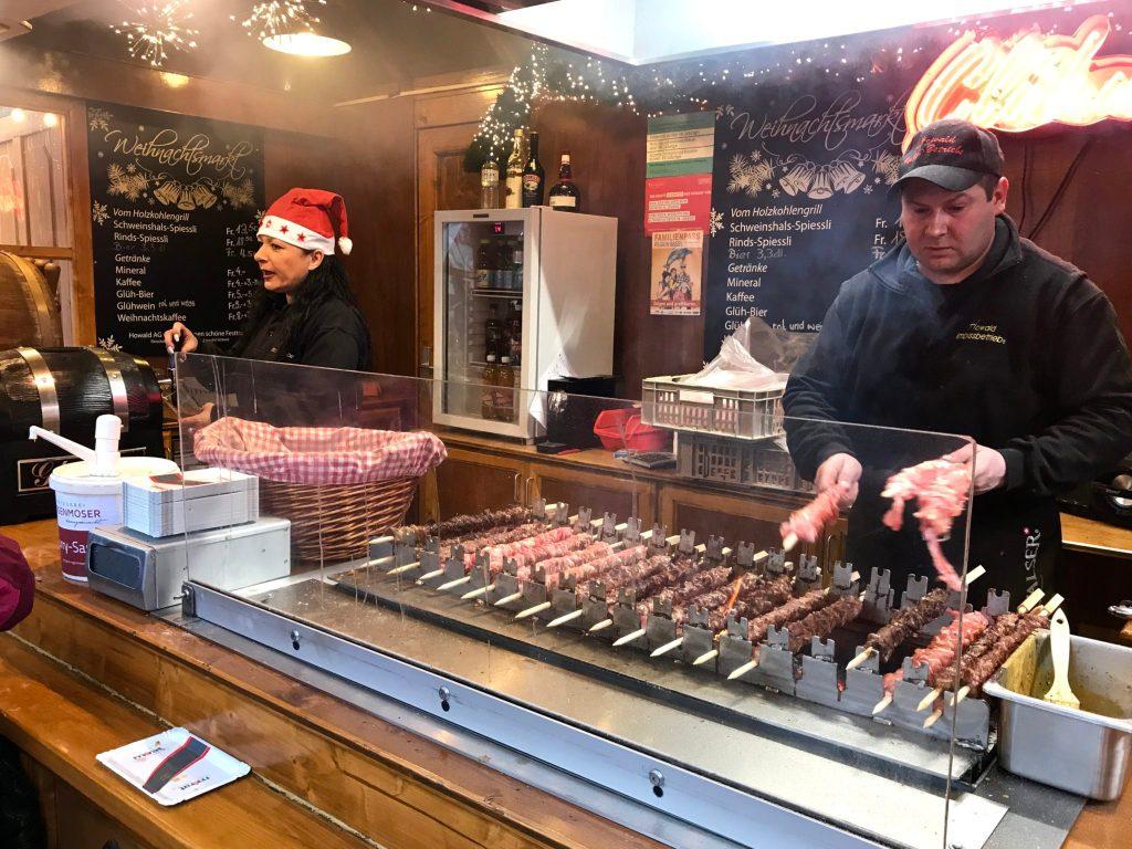 Basel Christmas Markets Vom Holzkohlegrill
