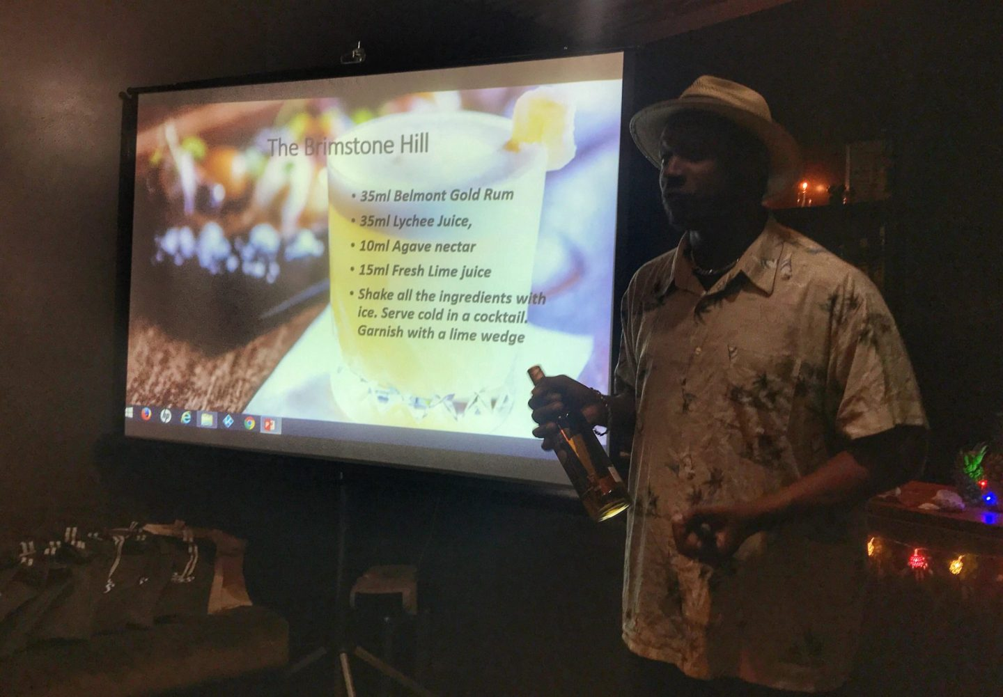 Ian Burrell, the Global Rum Ambassador, at the St Kitts Cocktail Event