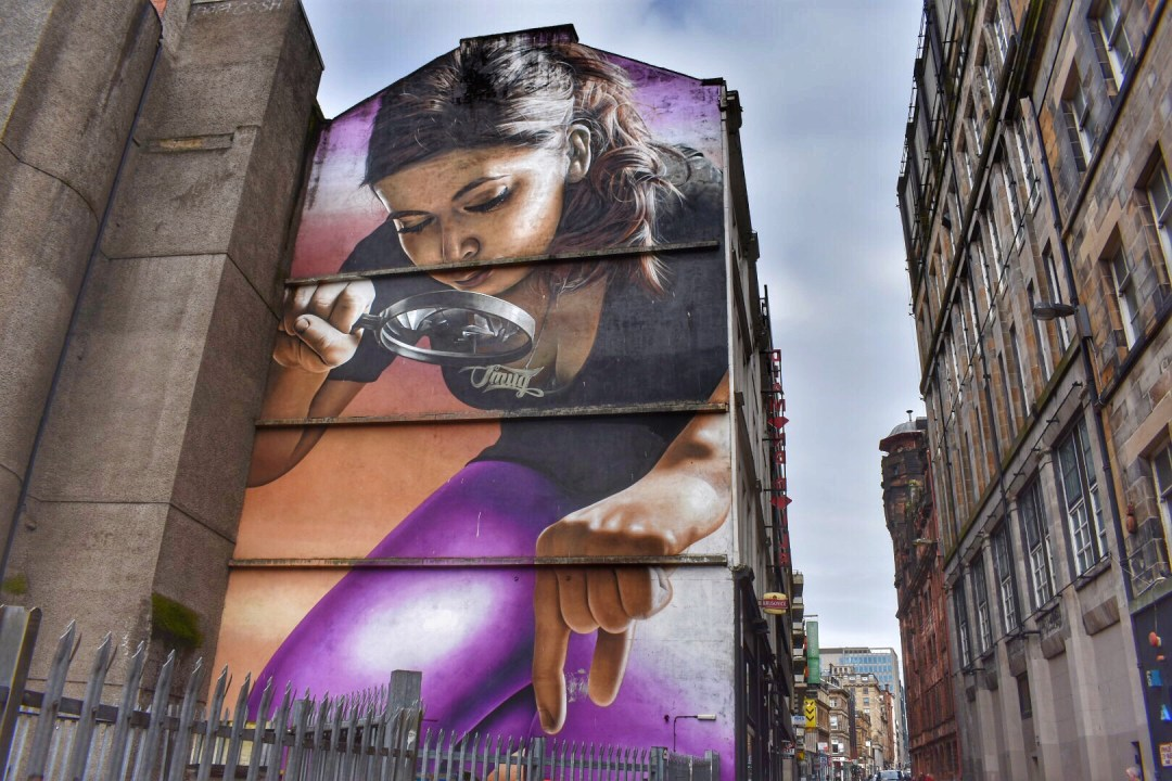 Glasgow Street Art Scotland, Honey, I Shrunk The Kids Mural