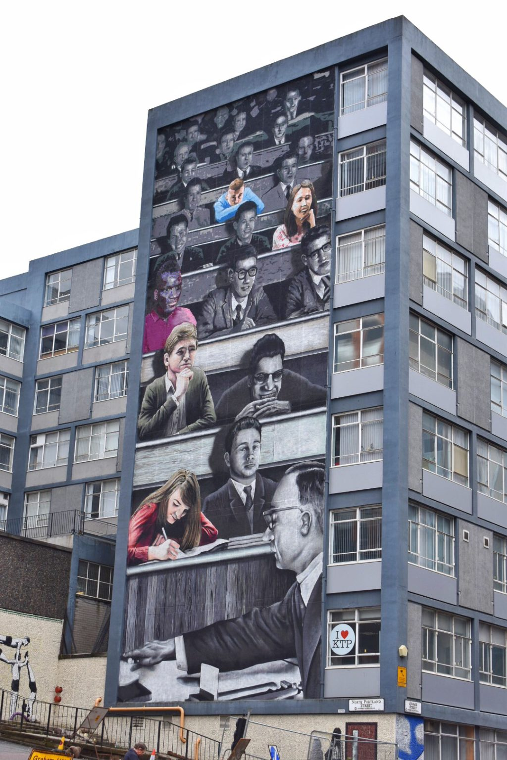 Glasgow Street Art Scotland, Strathclyde University Wonderwall Mural