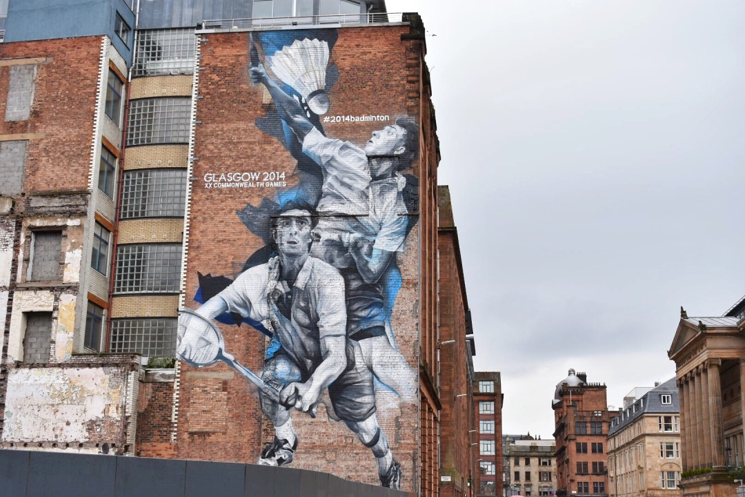Glasgow Street Art Scotland, Badminton Mural
