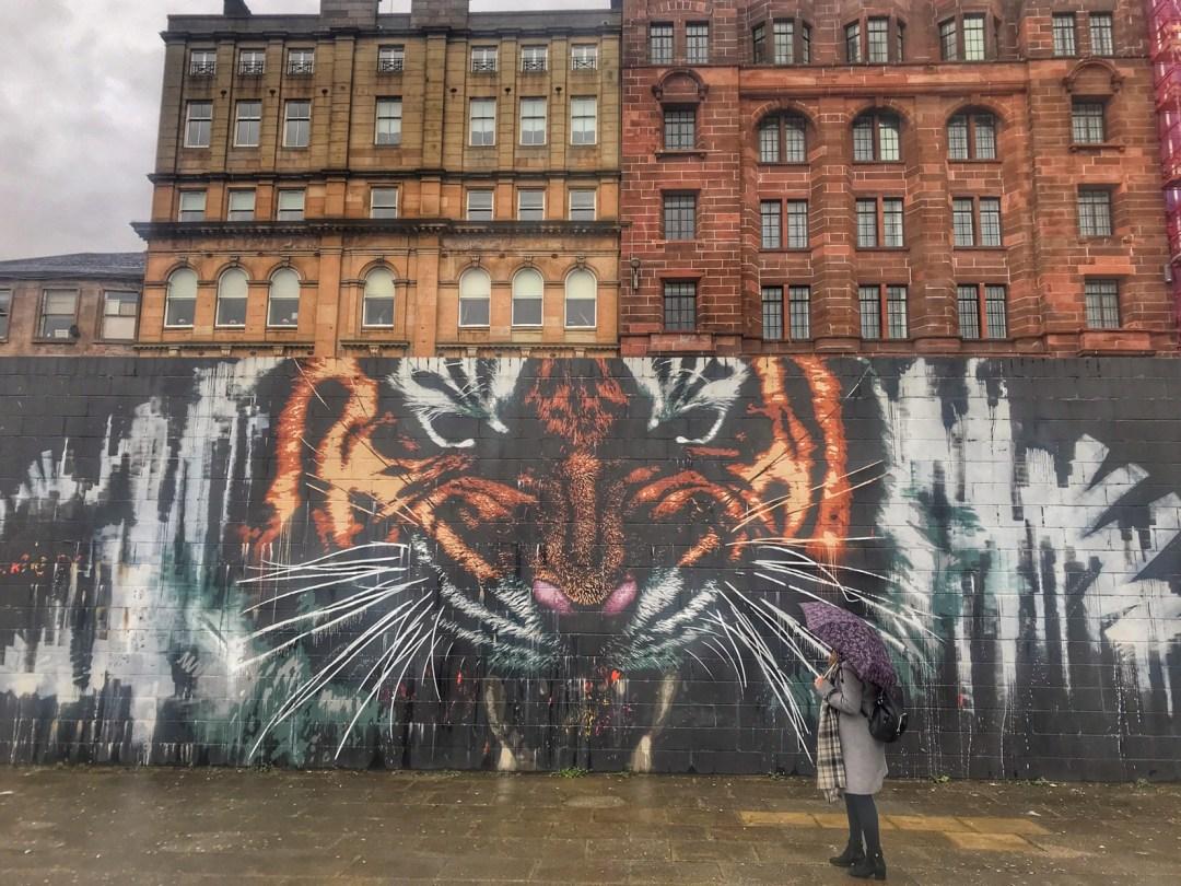 Glasgow Street Art Scotland, Tiger Mural