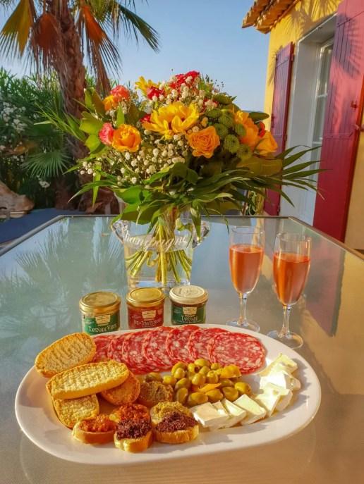 Sainte Maxime Villa Food, French Riviera