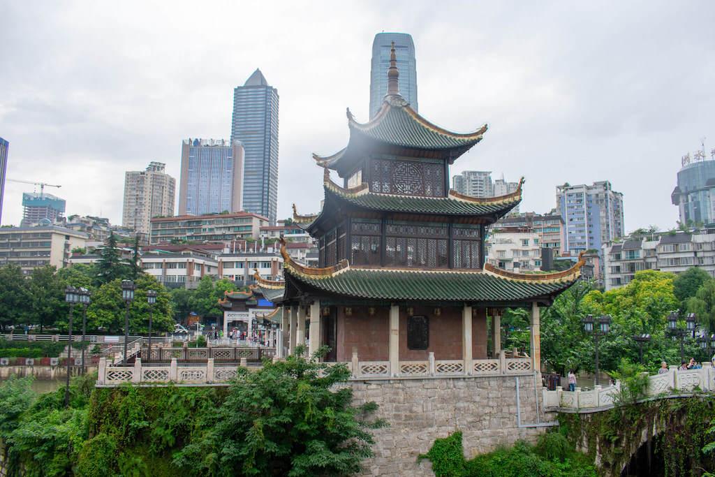 Jiaxiu Tower in Guiyang China