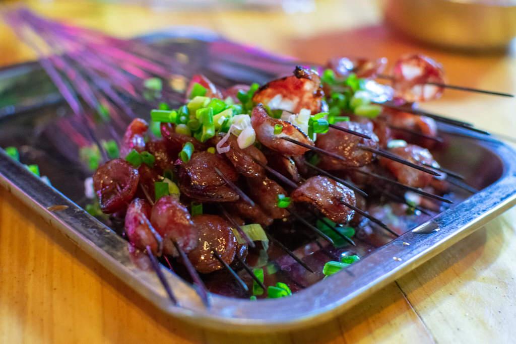 Local sweet sausage in Guiyang China